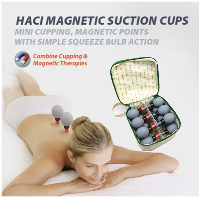 18PCS household Vacuum Magnetic Therapy Acupressure Suction Cup TCM Acupuncture Moxibustion Cupping Set for massage Health Care 5