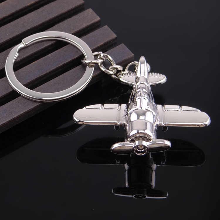 Novo avião do vintage porta-chaves dos homens moda carro chaveiro feminino chaveiro presente jóias atacado metal chaveiros festa presente jóias