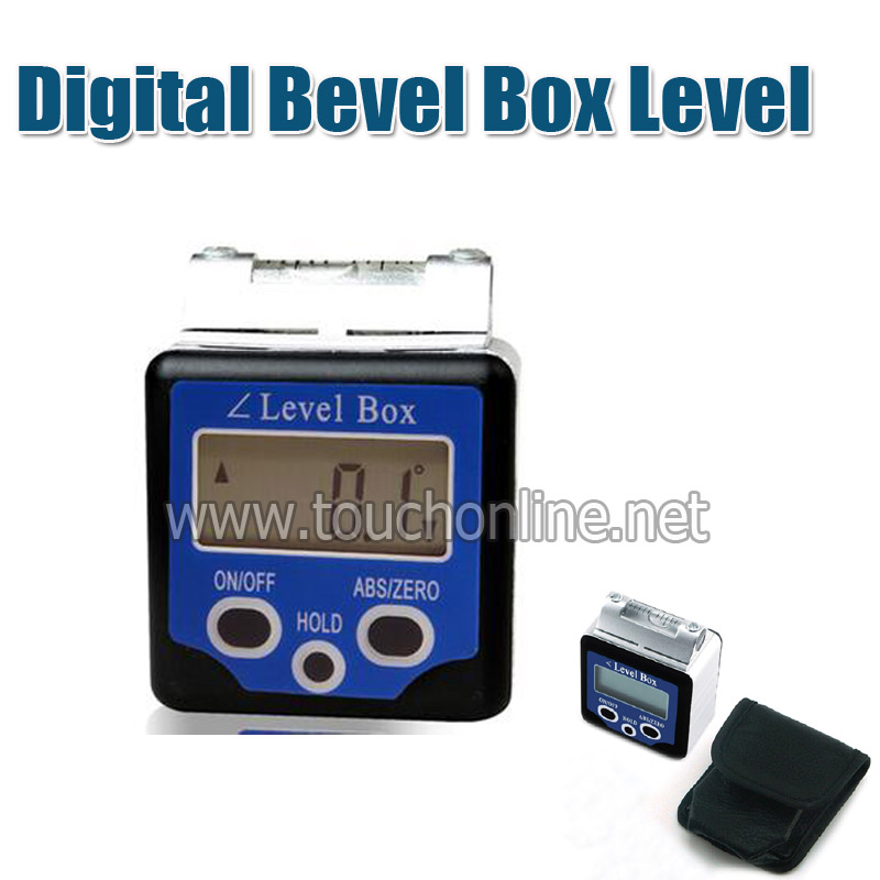 Digital Bevel Box Level Angle Finder Gauge Sensor 360 Degrees Protractor Spirit Level Inclinometer With High Precision Bubble 360 degrees