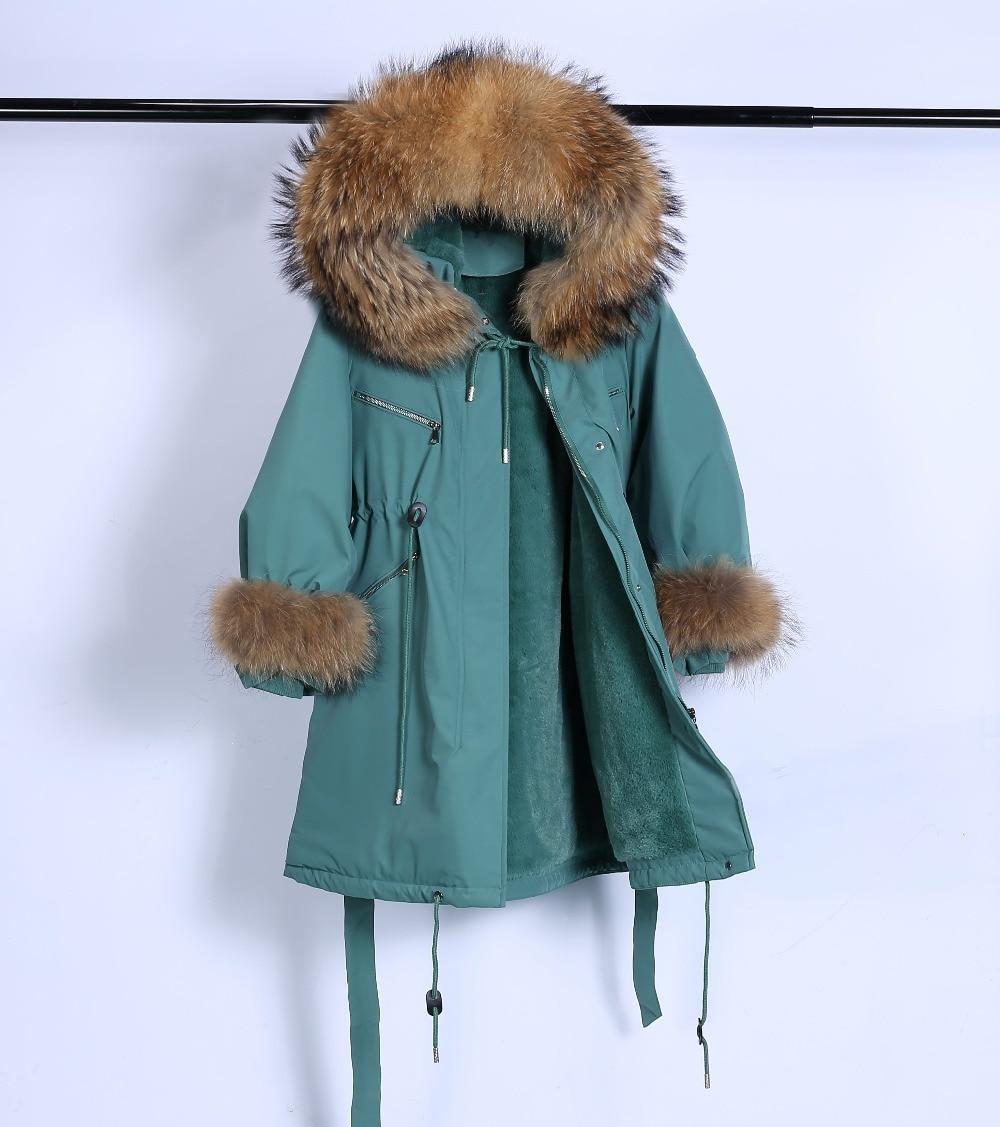 Large Natural Raccoon Fur Winter Jacket Women Hooded 19 Long Parkas For Female Thick Slim Down Winter Coat Women Waterproof 29