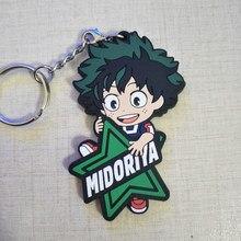 IZUKU MIDORIYA DEKU Bakugou Katsuki Shigaraki Tomura mon héros académique Anime modèle Action FigureRubber porte-clés pendentif cadeau 6cm