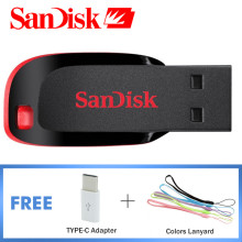 Original SanDisk USB Pen Drives 64GB USB 2.0 Memory Stick 32GB USB Flash Drive 128GB Pendrive 16GB Flash Disk 64G 32G 16G 8GB