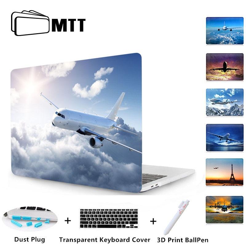 Pintado Caso de Cristal Para Macbook Pro 13 MTT 15 Barra de Toque A1989 A1990 A1706 A1707 A1708 Para Novo Macbook Air caso 2018 A1932 13