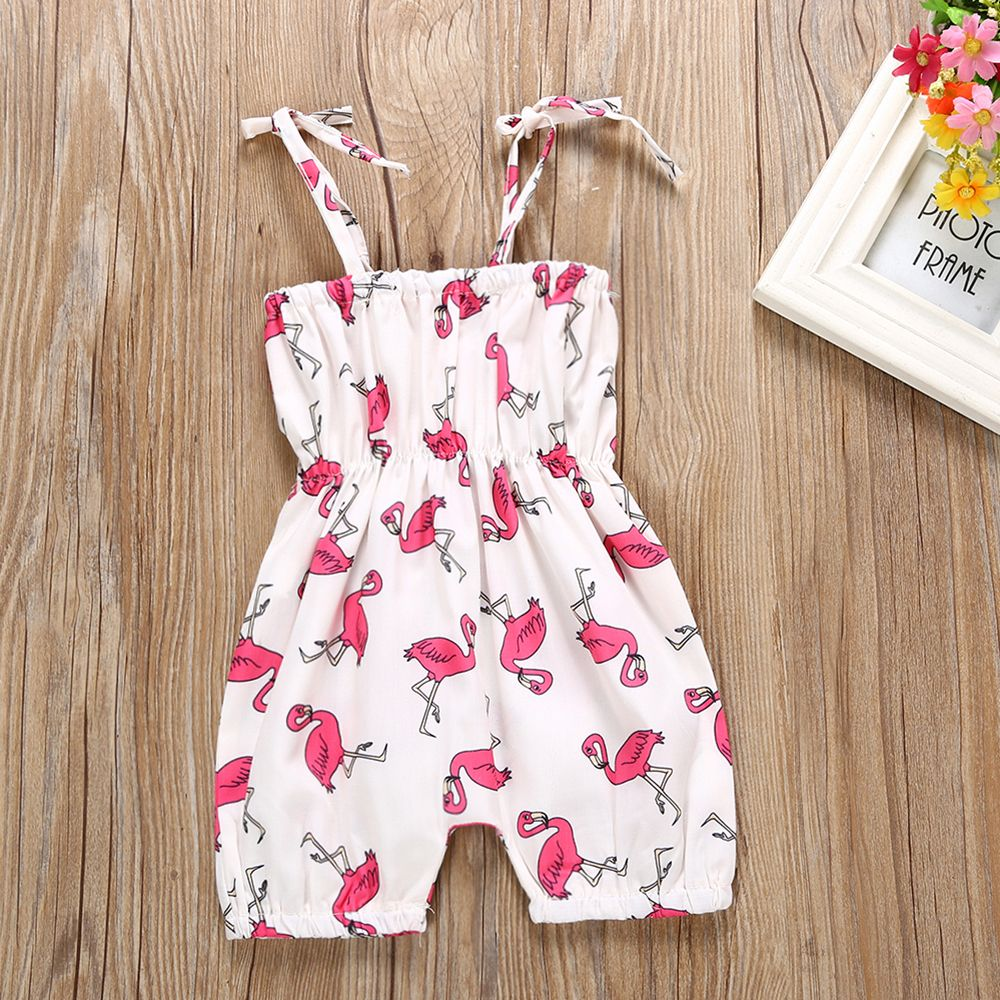 abf618ebb HTB1hN4Cb8smBKNjSZFFq6AT9VXa0 - 2018 0-24 Months Summer New Lovely Baby  Girls Flamingo Printed Clothes Romper