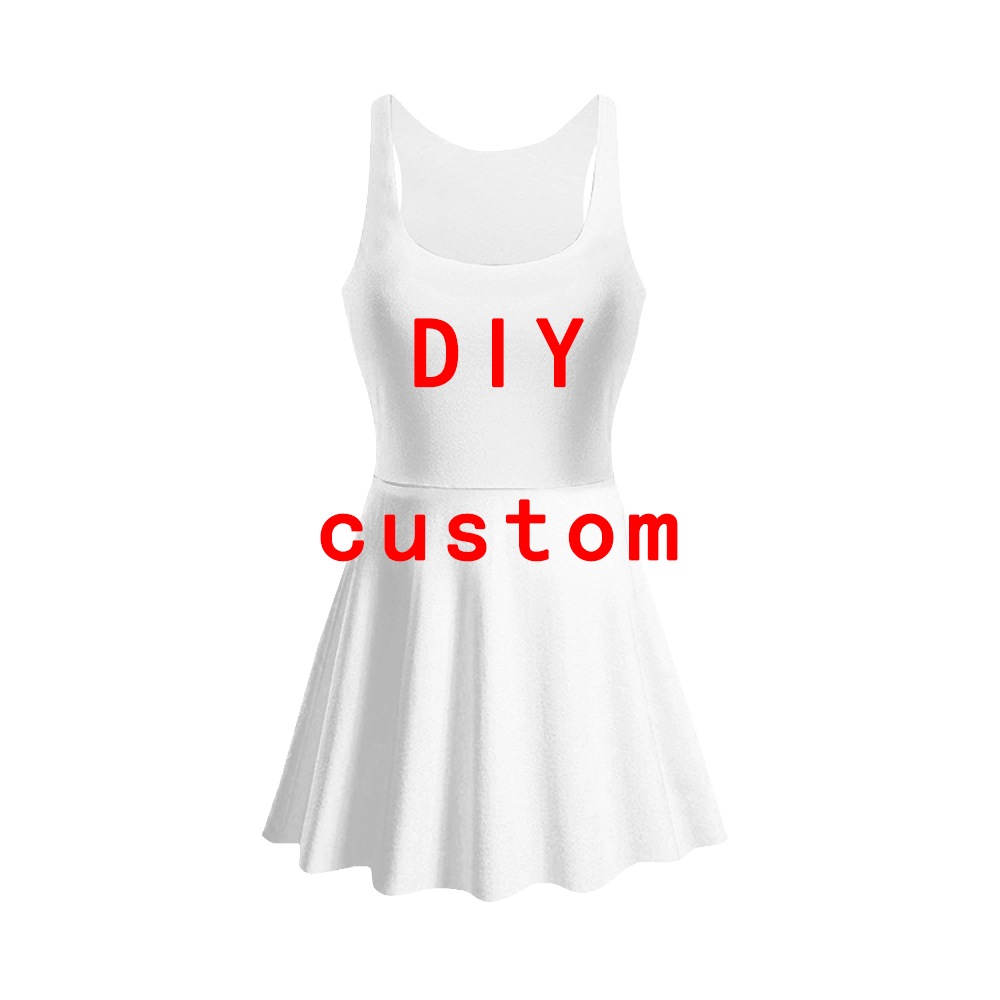 3D Print DIY Custom women Summer women's clothing   tank     top   dress sleeveless dress Quality quality Dropshipping 3d dress