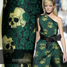 Victor rose double stereo jacquard brocade skeleton fashion fabric thick section.