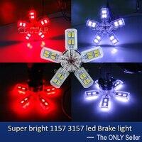 2 stks/partij Top kwaliteit fantastische LED BAY15D P21/5 W 1157 of P27/7 W 3157 led auto licht remlicht 30smd 5630 5730 staart licht