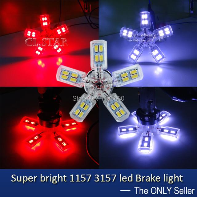 2 unids/lote fantástico de calidad Superior led BAY15D P21/5 W 1157 P27/7 W 3157 llevó la luz del coche 30smd 5630 5730 luz trasera luz de freno