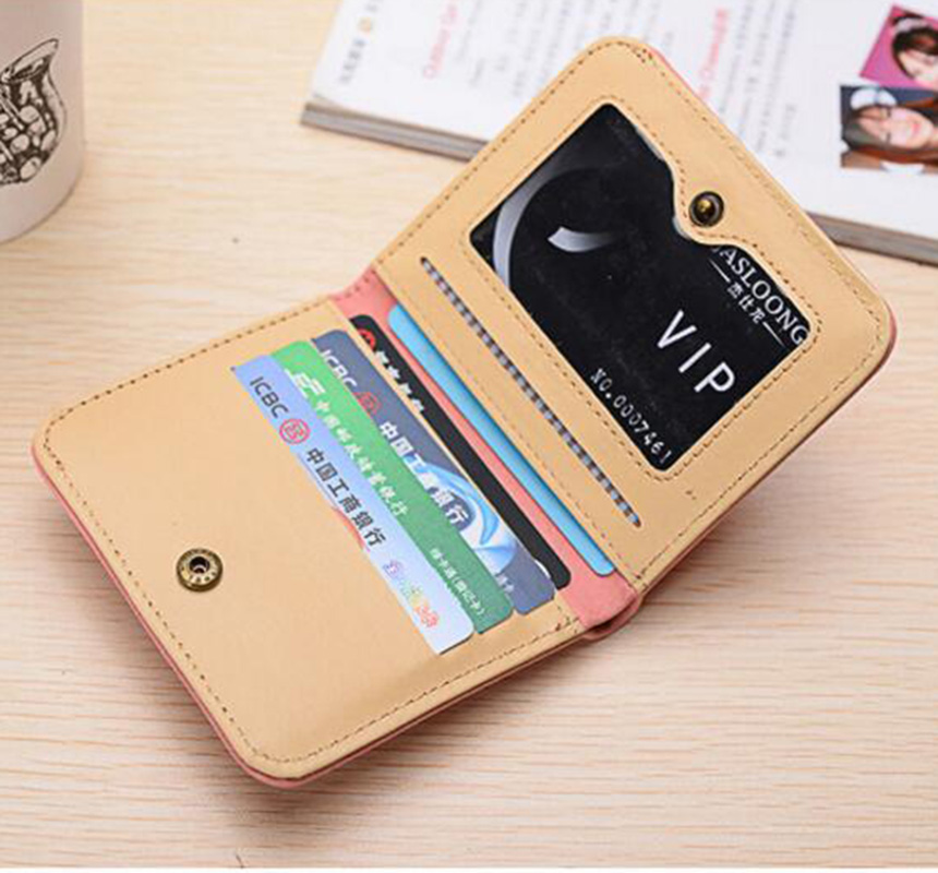 Купить с кэшбэком Ladies wallet ultra-thin Short section student wallet female scrub multi-card wallet small Simple wallets portefeuille femme