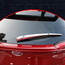 Yimaautotrims Chrome Rear Tail Window Windscreen Wiper Protect Cover Trim Fit For Toyota C-HR CHR 2016 2017 2018 2019 2020 ABS for toyota chr c hr 2017 2018 suv hatchback lower front hood grill cover trim abs chrome exterior only fit asia model