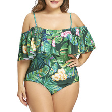 b412f5b3b One Piece Swimsuit for Plus Size Women with Ruffled Decorations