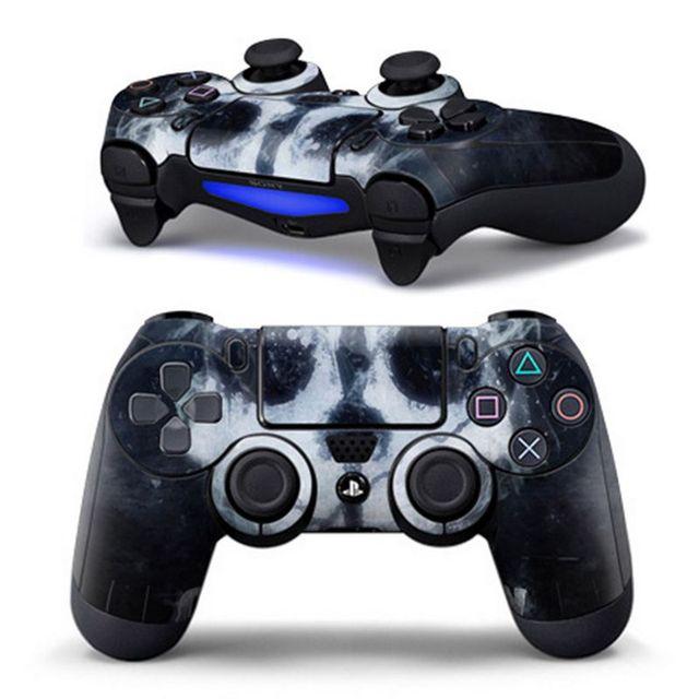 Neue Ps4 Aufkleber Ps4 Controller Designer Haut Für Sony Playstation 4 Dualshock Wireless Controller Schädel Logo
