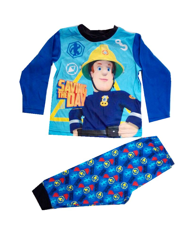2017 Fireman pajamas kids fireman suit Long Sleeve Pajama Children clothing set for boys FIREMAN Sleepwear baby nightwear pajama suit for children pajamas for boys with long sleeve kids pjs sleepwear set children s clothing 1 2 4 year
