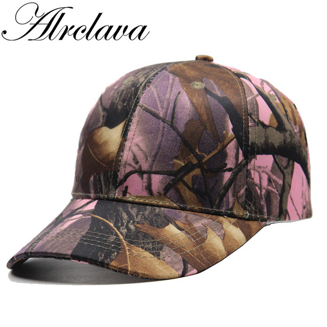 3feeac2f9b9 Hunting Camouflage Cap Adjustable Baseball Hat Tactical Outdoor Hiking  Cycling Pink Orange Camo Cap for Men and Women