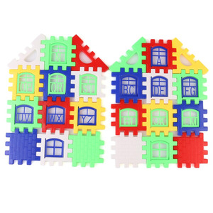 Image 4 - 24pcs Building Blocks Kid House Building Blocks Construction Developmental Toy Set 3D Bricks Toy Construction Bricks GYH