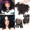 Fashion Trends Bob Style Short Curly Brazilian Hair Bundles With Closure Aunty Fumi 100g Bundles And Lace Closure With Baby Hair