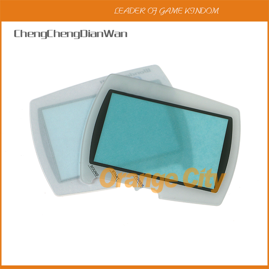 ChengChengDianWan Protector Cover Lens For BANDAI Wonder Swan WSC Screen Lens With Double Side Tape 10pcs/lot