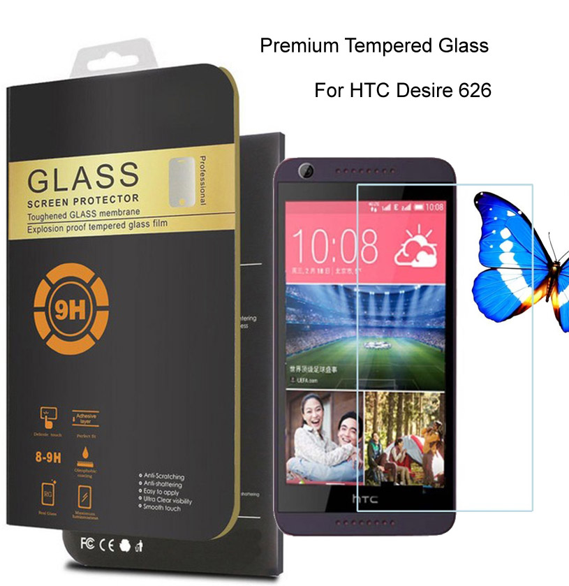 For HTC Desire 626 dual sim 0.26mm Premium Protective Film Tempered Glass For HTC Desire 626G+ Phone Screen Protector
