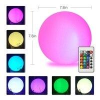 Led Outdoor solar lighting Ball light Waterproof RGB luminous lawn light Remote control floating ball lamp Pool yard 20 25CM #