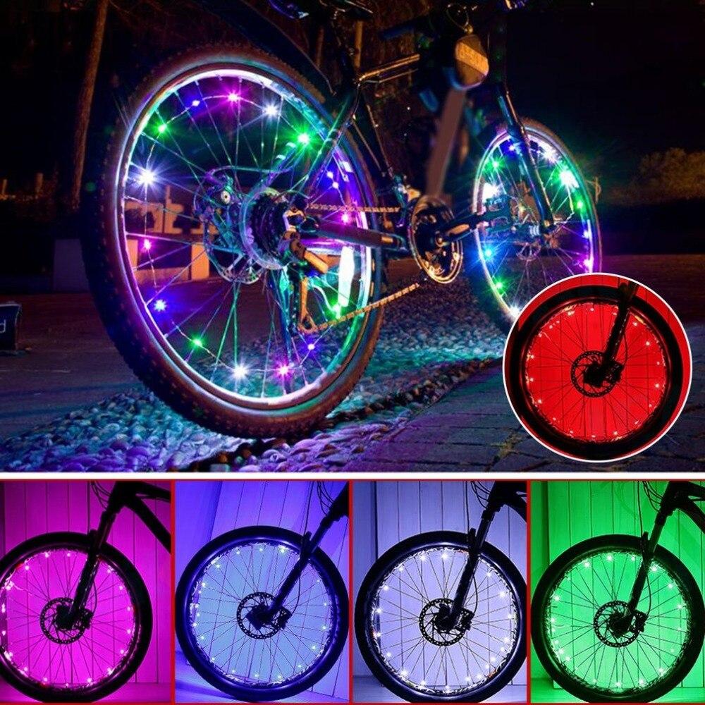 20 LED Bike Cycling LED Rim Lights Bicycle Wheel Spoke Light String Strip Lamp