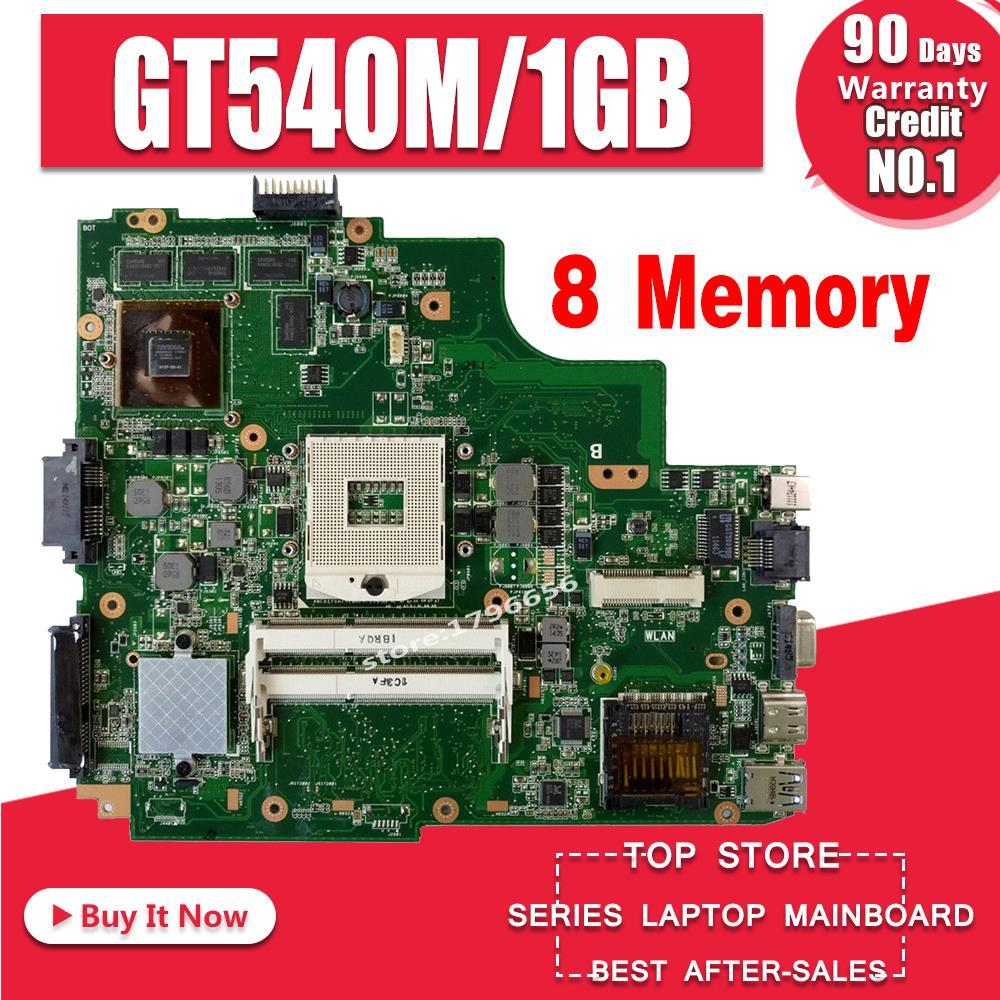 K43SV mātesplatē GT540M 1GB ASUS A43S X43S K43SV K43SJ klēpjdators Mātesplate K43SV Pamatplates K43SV mātesplates tests 100%