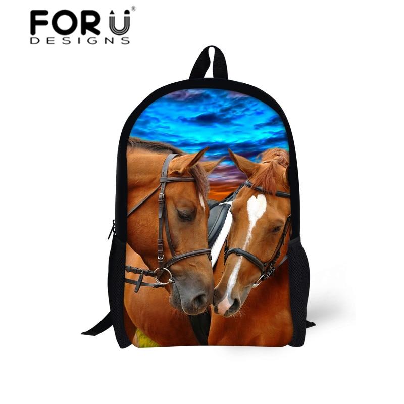 Grosir Modis Ransel Laut Dunia Cetak Ransel Anak Sekolah Tas Anak Laki-laki  3D Horse Sekolah Ransel Merek Tas Sekolah 8a81b9c368
