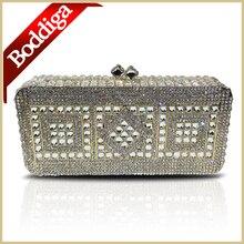 Harte Schale Geometrische Muster Abendtasche Strass Kristall Silber Gold Frauen Clutch Bag Kostenloser Versand Kleine Handtasche