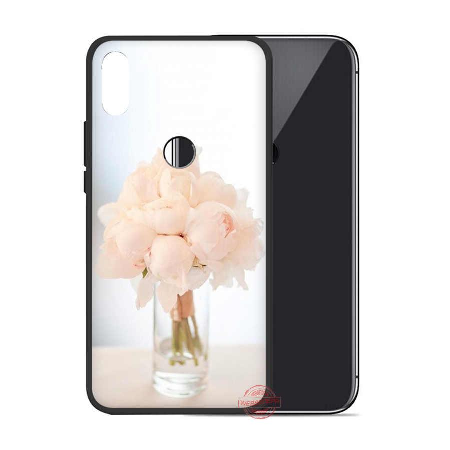 WEBBEDEPP pembe çiçek şakayık vazo yumuşak kılıf için Huawei P8 P9 P10 P20 P30 Lite Pro 2017 2018 2019 kapak