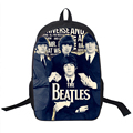 Rock Band The Beatles Backpack Led Zeppelin / Pink Floyd Street Rock Backpack Men Women Punk Backpacks For Teenage School Bags