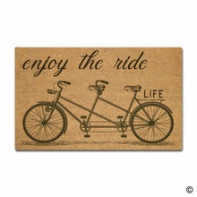 Funny Printed Doormat Entrance Mat Enterways Enjoy The Ride Life Bicycles Non-slip 30 inch by 18 Machine Washable N