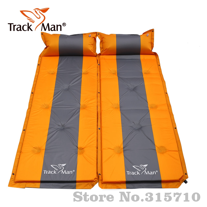 Trackman single person Outdoor Self-Inflating Sleeping Pad with Pillow Camping Tent Mat Travel Moisture-proof Mat 3colors