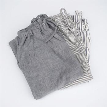 2019 jesień mężczyźni podwójna bawełniana przędza męskie spodnie do spania męskie luźne spodnie plus size nighty bielizna nocna męskie spodnie w paski piżamy tanie i dobre opinie XiaoTu Dzianiny Q18229 COTTON Spać dna Male Sleep Bottoms Male Spring Summer Autumn Home Pants Male Casual Sleepwear Trousers