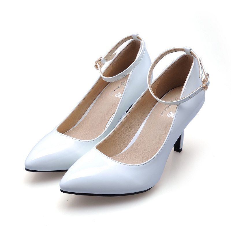 2017 Women's High Heels Women Pumps Sexy Party Thin Heel Wedding Shoes Pointed Toe Sheepskin High Heel Shoes Pule Size 33-41 doratasia denim eourpean style big size 33 43 pointed toe women shoes sexy thin high heel brand design lady pumps party wedding