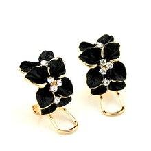 1 Pair Enamel Flower Earrings Fashion Studs Earring Jewelry Gifts For Women CX17