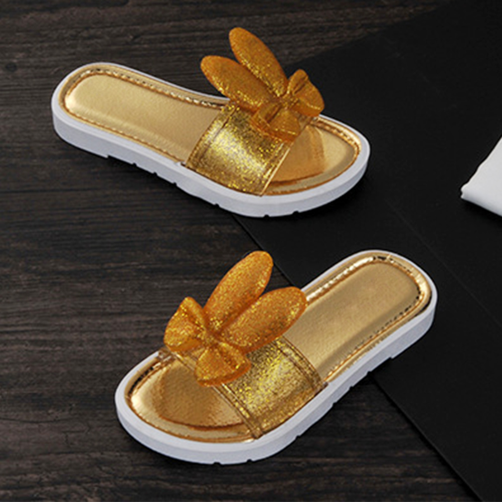 Summer children girls cool slippers rabbit  anti-skid slippers beach shoesSummer children girls cool slippers rabbit  anti-skid slippers beach shoes