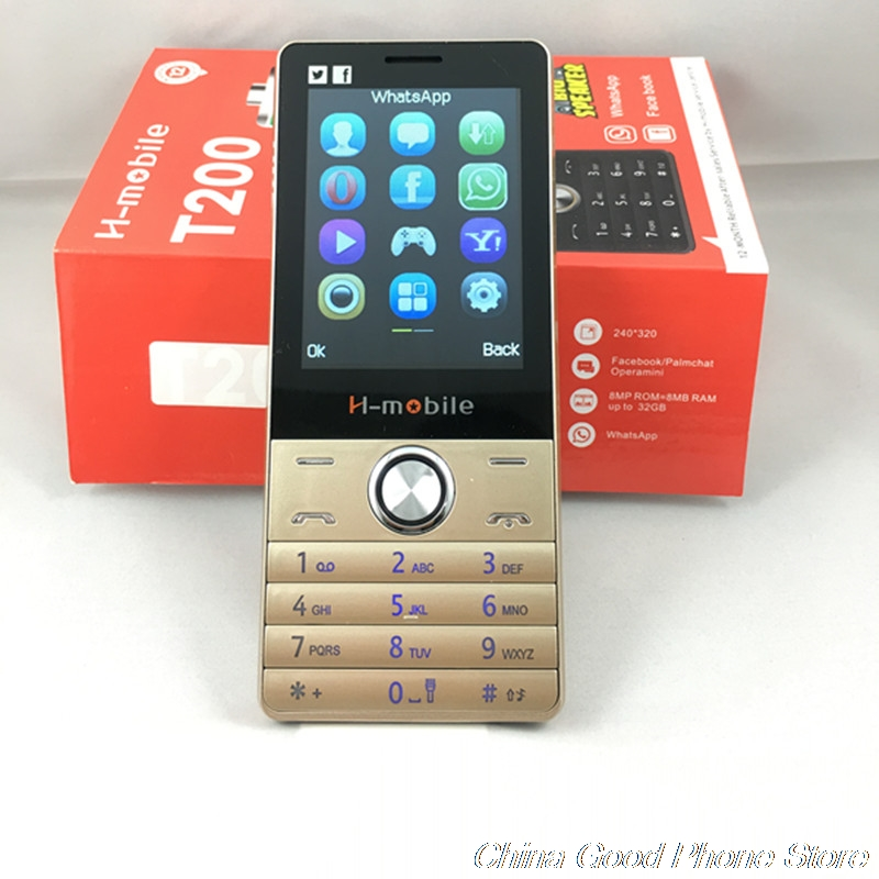 H Mobile T200 3000mAh Bar Phone Big Battery Big Sound Whatsapp Facebook 2.8 Screen Mobile Cheap Cell Phone Support Russian Key