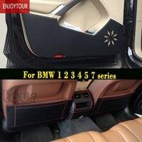 Car pads front rear door Seat Anti kick mat Accessories For BMW 1 series F20 2 F45 F22 3 E90 F30 4 F32 5 E60 F10 G30