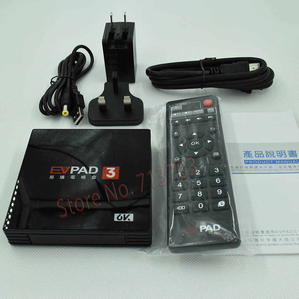 2019 IPTV EVPAD 3 16GB 4K Smart Android TV Box Spain Korean Japanese  Singapore Malaysia Taiwan Thailand Vietnam Sport TV Channel