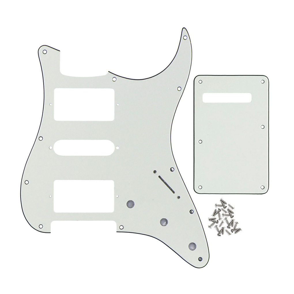 Tremolo String Cover Back Plate for Strat Guitar Black