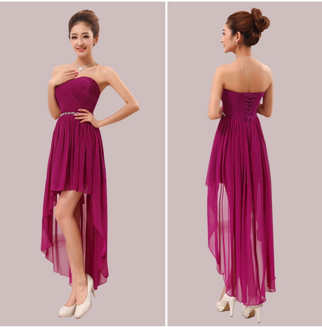 Purple and White Short Party Dresses