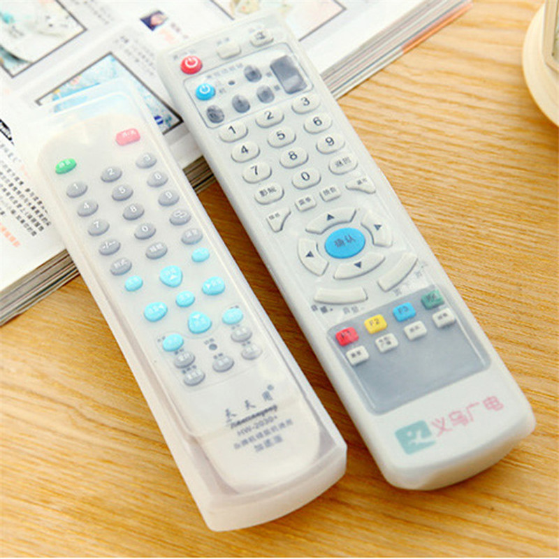 1PC Transparent Remote Control Cover Silicone TV Remote Control Case Air Conditioning Dust Protect Storage Bags Waterproof Home-in Remote Control Covers from Home & Garden