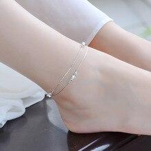 TJP Fashion Girl 925 Silver Bracelets Party Jewery Top New Star Design Women Anklets Accessories Hot Bride Lady Wedding Bijou