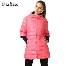 Una Reta Women Autumn Winter Long Parkas Coat 2017 Fashion Plus Size Single Breasted Long Sleeve Cotton Coats For Women