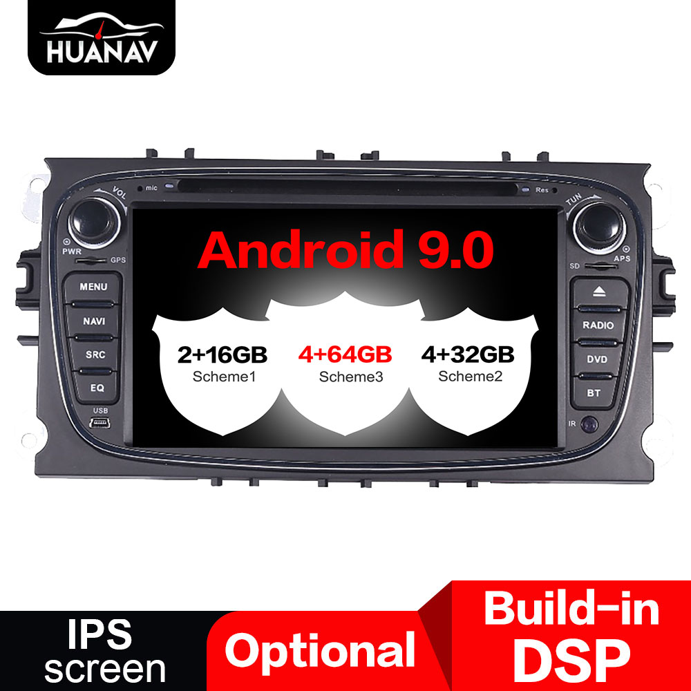 Android9.0 Car DVD player GPS navigation stereo multimedia For <font><b>Ford</b></font> <font><b>Focus</b></font> 2004-2011 Car <font><b>radio</b></font> piayer headunit stereo <font><b>Auto</b></font> Satnav image