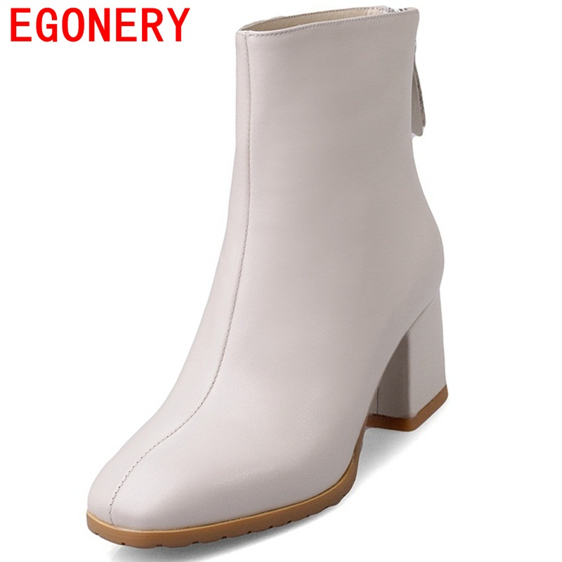 EGONERY shoes 2017 europe and america women fashion full leather high quality ankle boots casual elegant riding equestrian shoes fashion europe style high quality brass