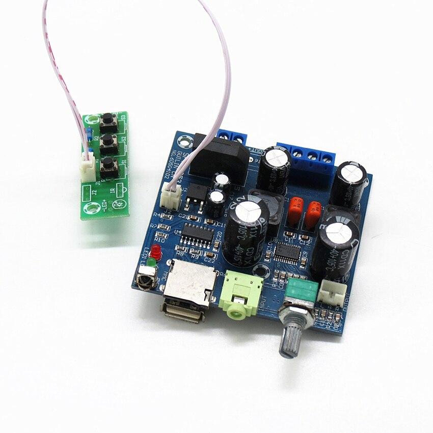 Multi-function TPA3123 class D digital power amplifier board, nondestructive decoder support play WAV MP3 player