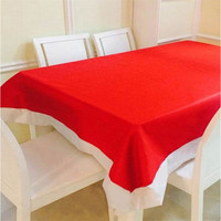 Christmas decorations non woven cloth table cloth rectangle Christmas table decorations red tablecloth