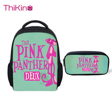 Thikin pink Panther School bags for Girls Preschool Book Backpack Kids Pupils Supplies Boys Bookbags Students Daybag