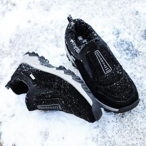 Image 5 - Outdoor Shoes Winter Suede Leather Men Shoes Fur Warm Casual Shoes Men Outdoor Men Sneakers Non slip Snow Shoes Hot Men Footwear