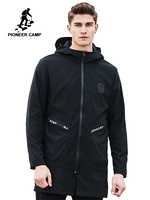 Pioneer Camp 2018 New Spring long jacket coat men brand clothing fashion windbreak jacket male top quality overcoat AJK707004